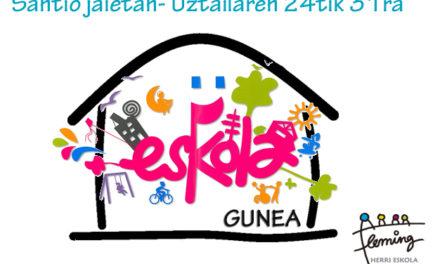 Fleming Herri Eskola abrirá en fiestas de Santiago Taberna-gunea