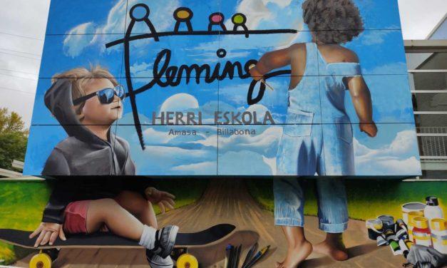 Street  artea  Fleming  Herri  Eskolan!